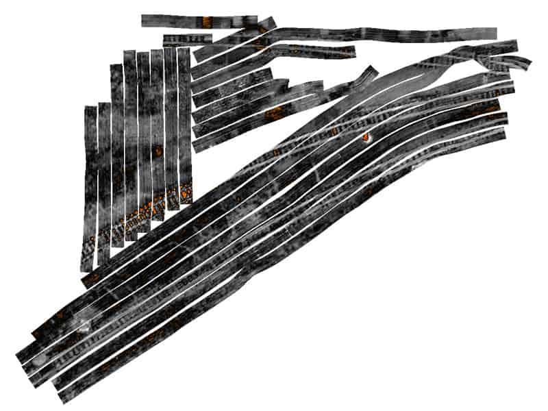 interpretazione dell'elaborato georadar multicanale per ricerca e mappatura di sottoservizi