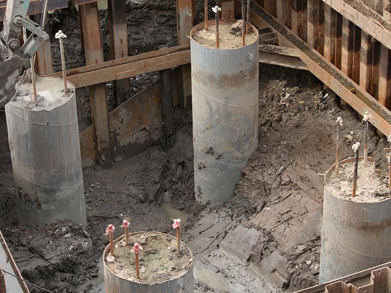 Controllo di sottofondi, pilastri, pali e ponti